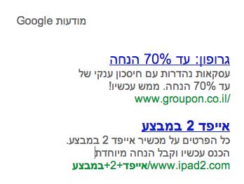 google adwords optimization ipad2