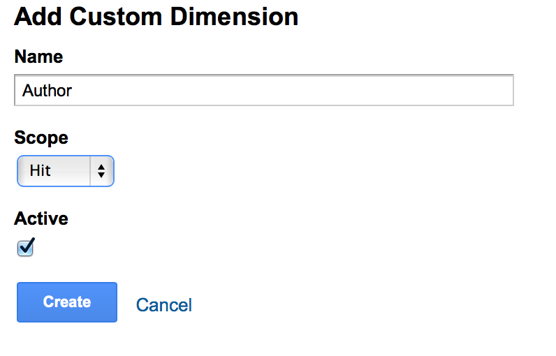Add custom dimension in analytics