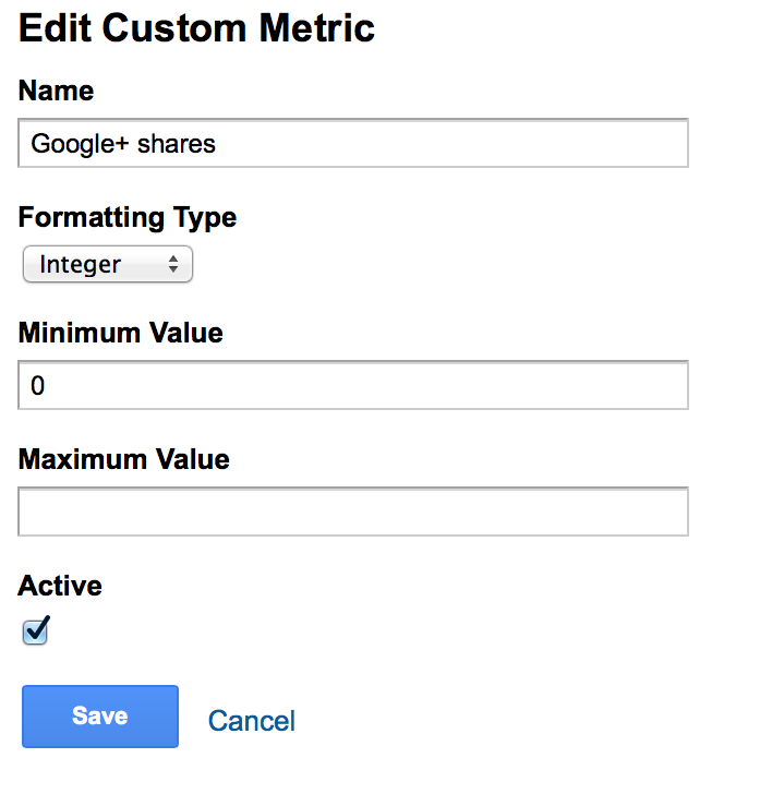 add custom metric google analytics