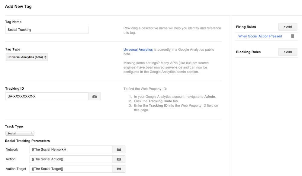google tag manager THE social tag