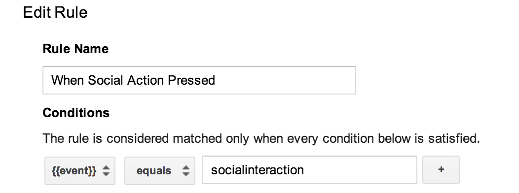 google tag manager new event rule