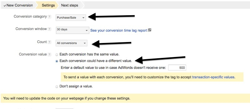 google adwords all conversions