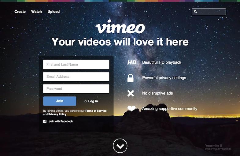 vimeo - no USP here