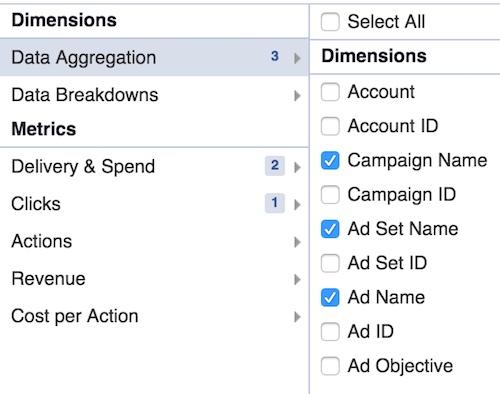 data aggregation FB
