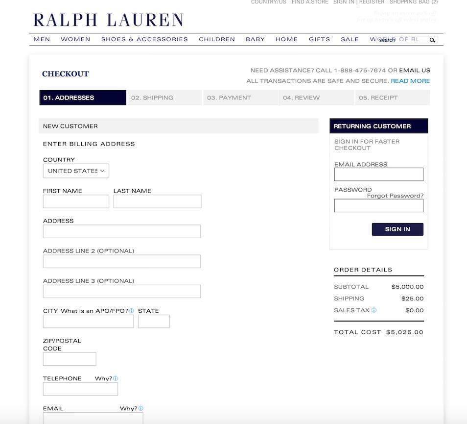 ralph lauren checkout 1