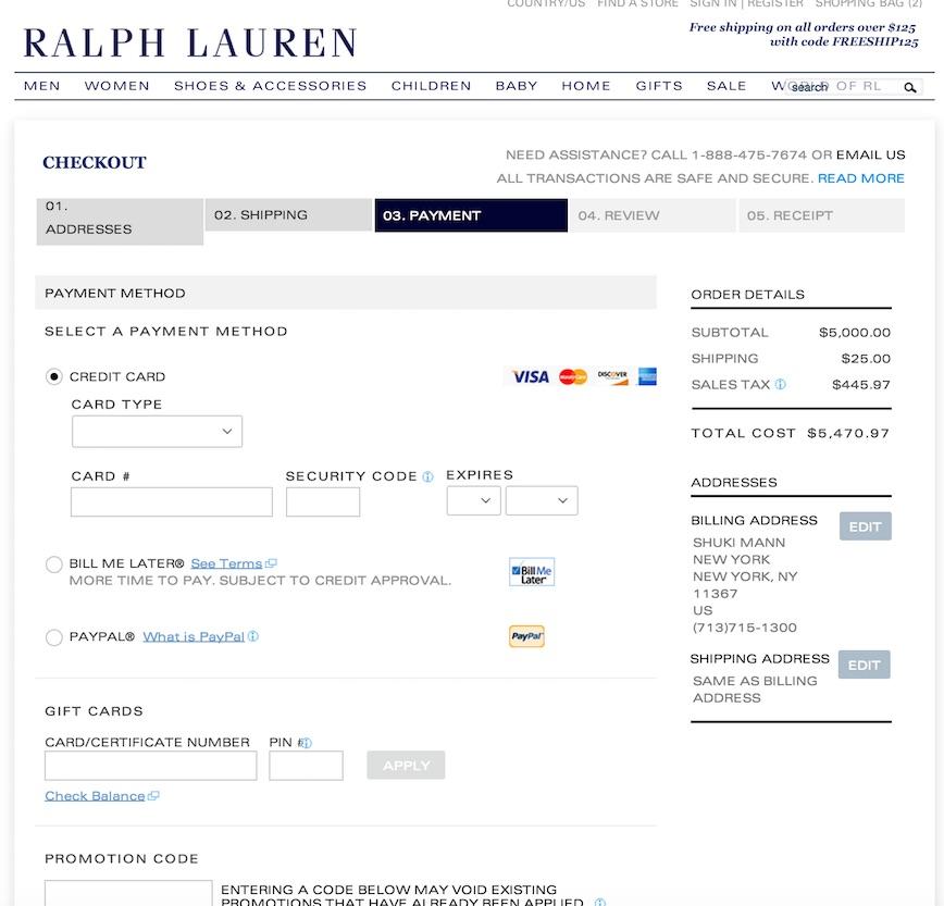 ralph lauren checkout 2