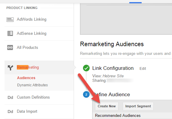 Create New Audience In Google Analytics