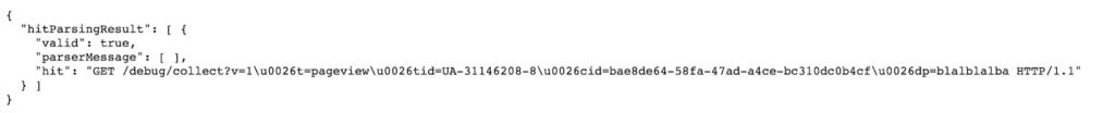 measurement protocol debugging - true