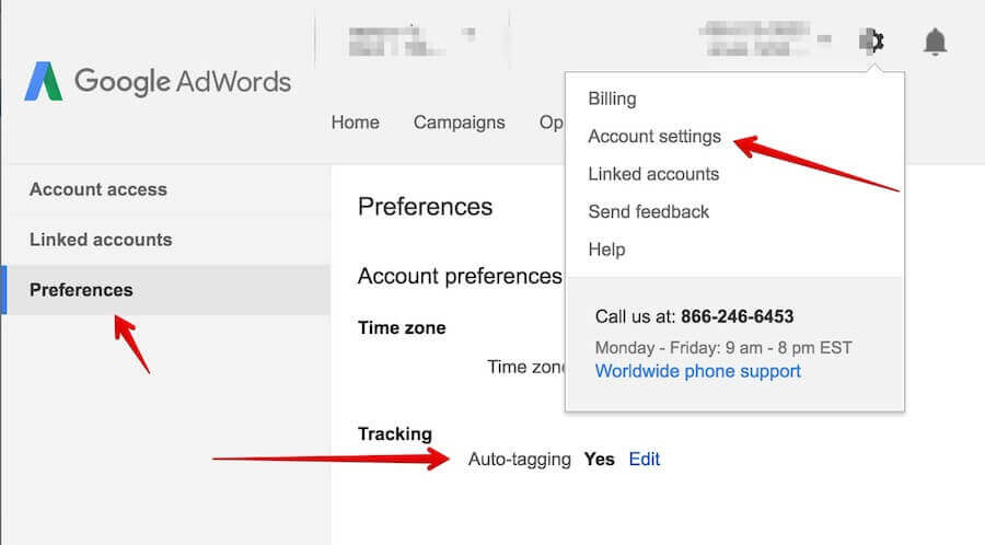 adwords-analytics auto tagging