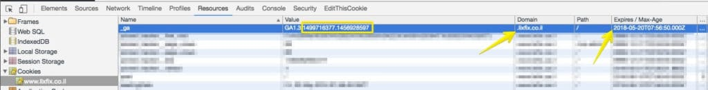 google analytics cookie