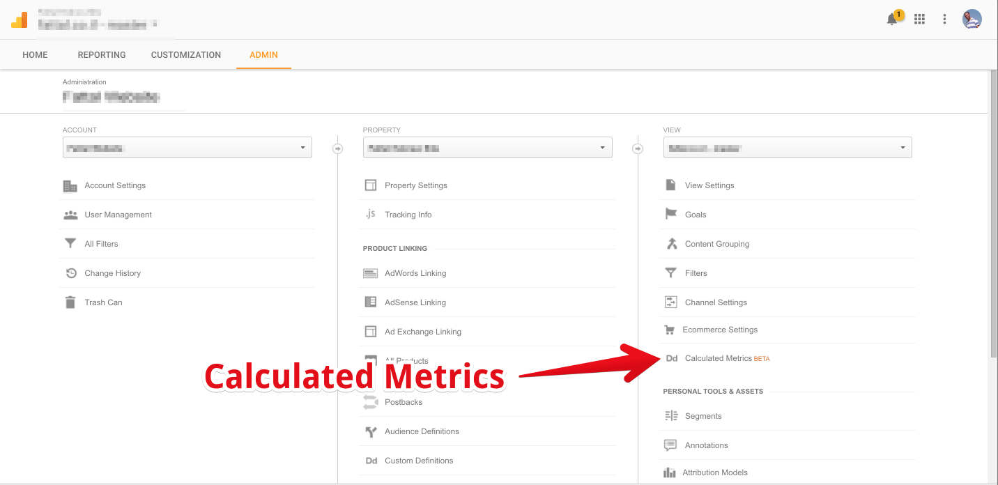 calculated metrics google analytics