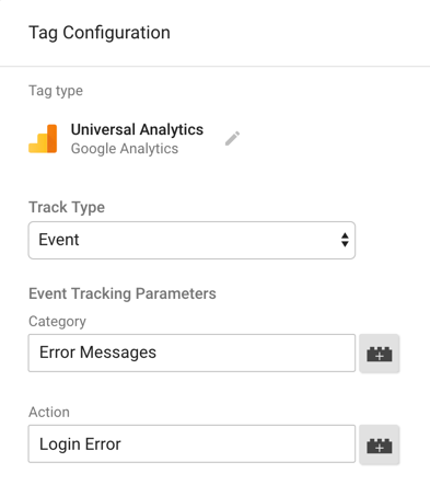 google tag manager event login error
