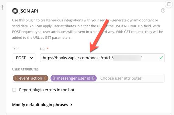JSON API Chatfuel