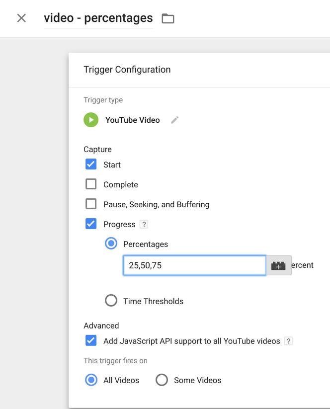 video trigger