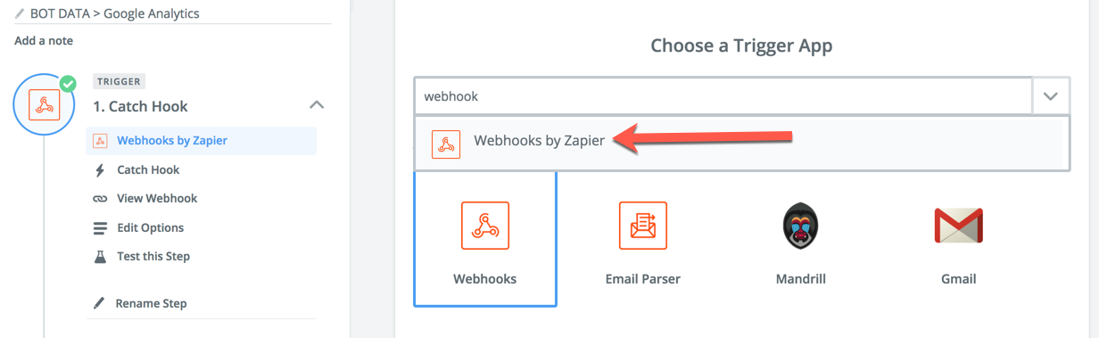 webhook by zapier