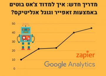 איך למדוד צ'אט בוטים באמצעות גוגל אנליטיקס וזאפייר